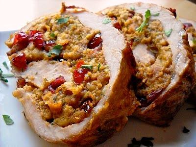 Cranberry-Walnut Stuffed Pork Tenderloin