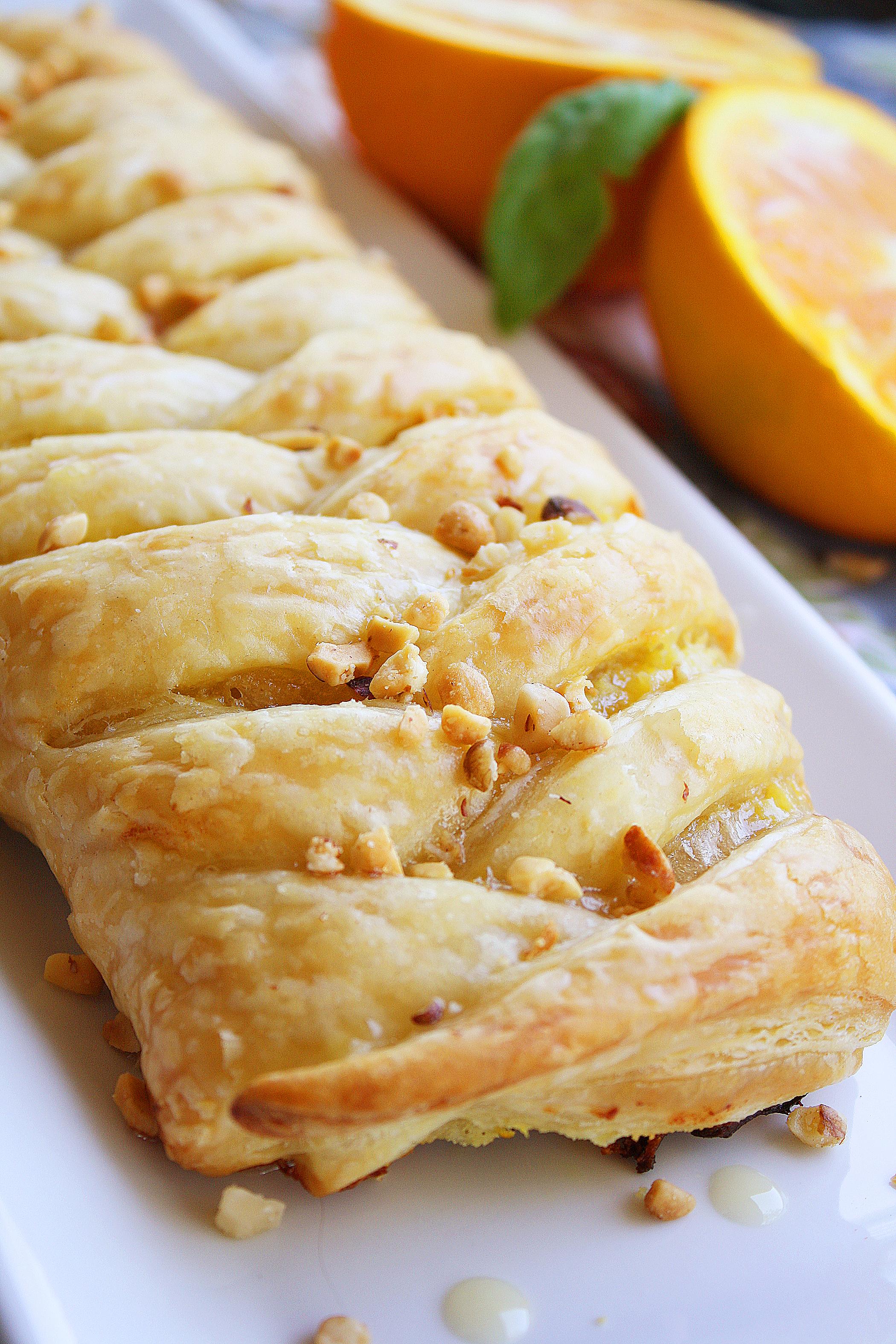 Orange Cheese Danish Pastry The Comfort Of Cooking