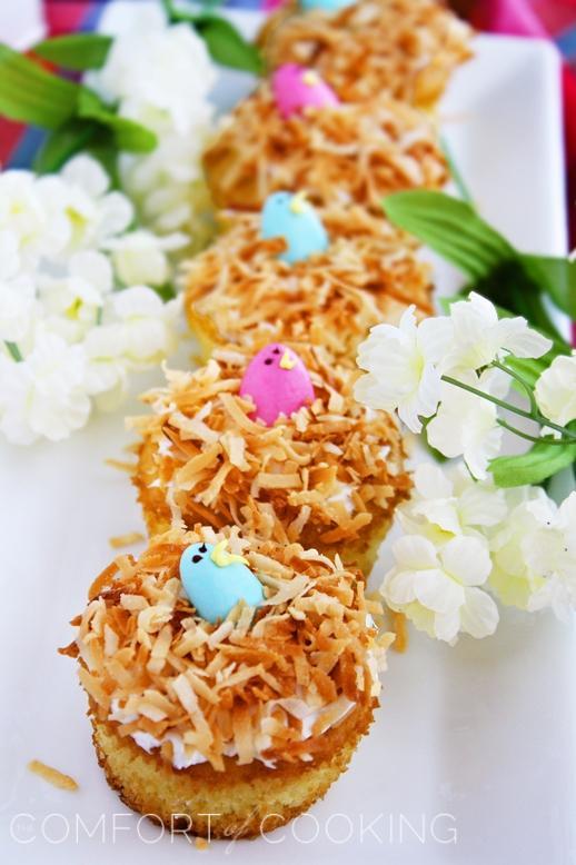 Springtime Bird's Nest Cupcakes