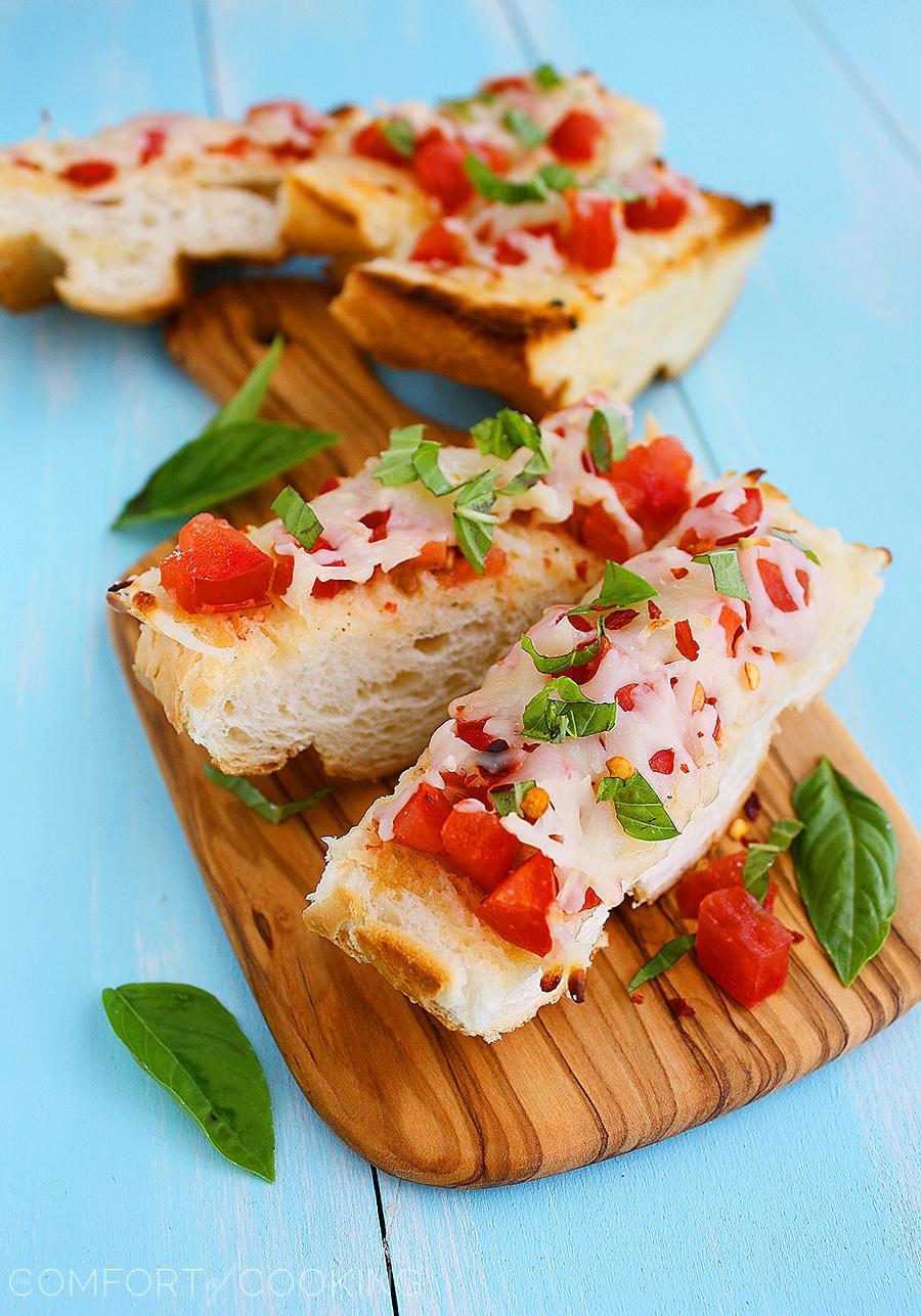 Mozzarella Tomato Basil Bruschetta