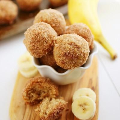 Baked Cinnamon-Sugar Banana Donut Holes