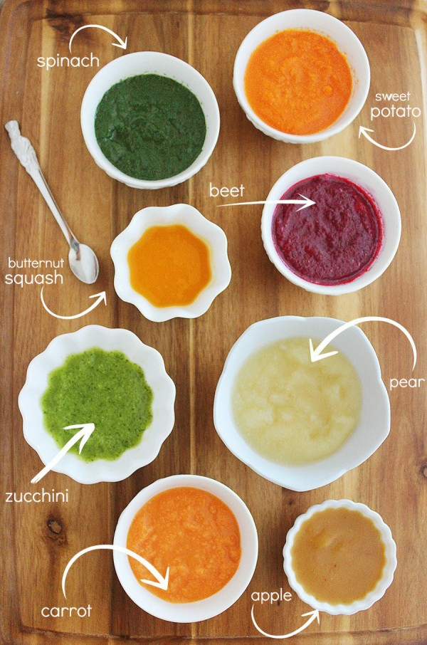 8 Easy Homemade Baby Purées First Foods Eight Nutritious Wholesome And Incredibly