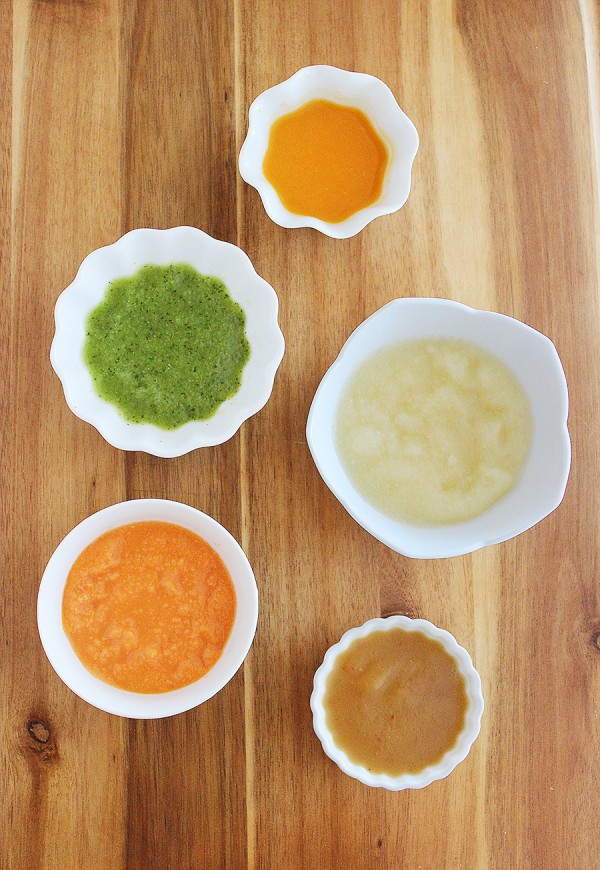 8 Easy Homemade Baby Purées First Foods