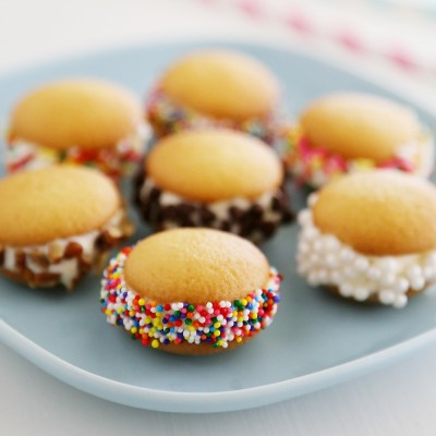 Mini Vanilla Wafer Ice Cream Sandwiches