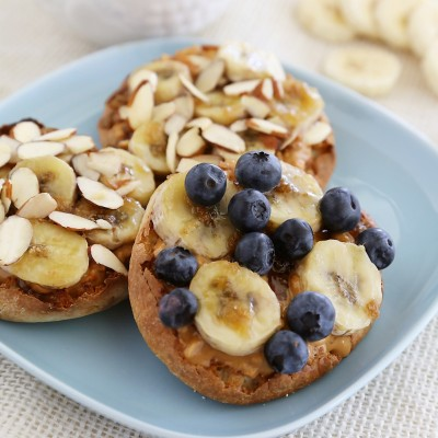 Brûléed Banana and Peanut Butter English Muffins