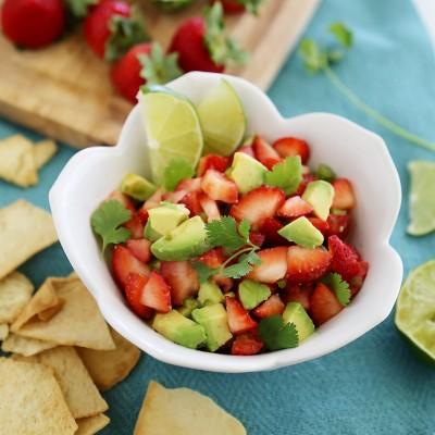 Strawberry Jalapeño Avocado Salsa