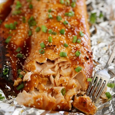Honey-Soy Asian Salmon in Foil