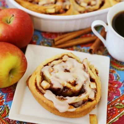 Gooey Apple Pie Cinnamon Rolls