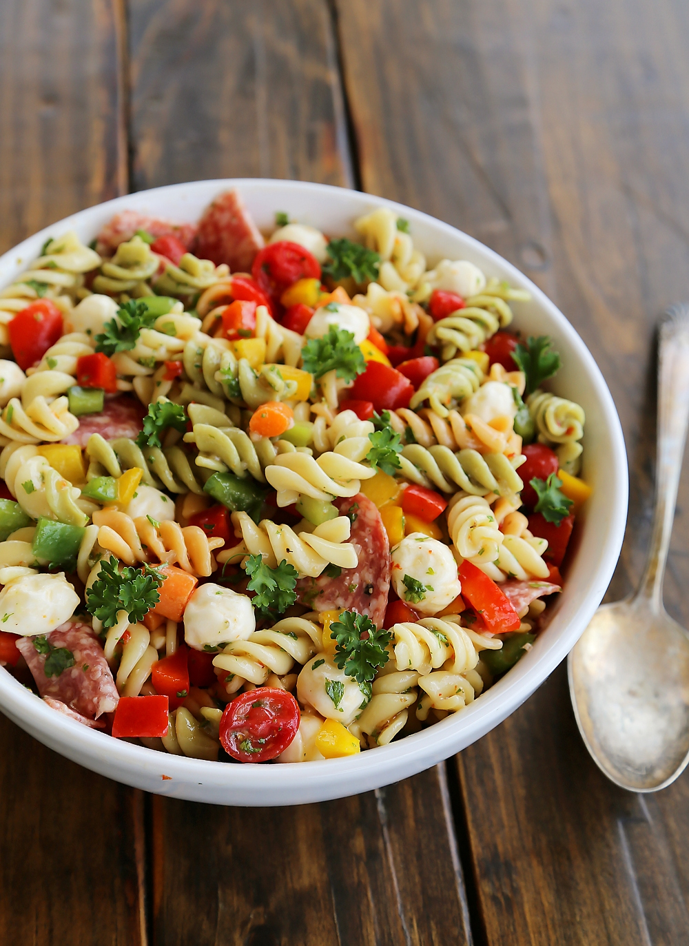 Italian Pasta Salad So Colorful And Flavorful Easy Perfect For Parties