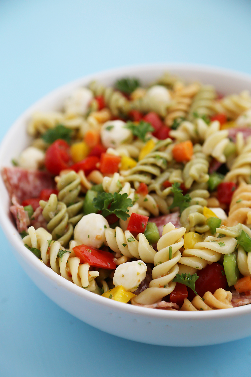 Italian Pasta Salad So Colorful And Flavorful Easy Perfect For Parties This Recipe