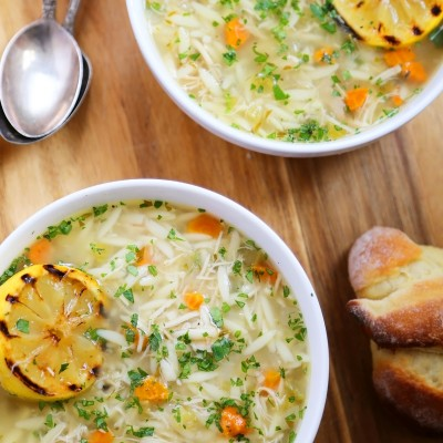 Lemon Orzo Chicken Soup