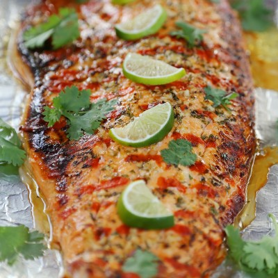 Honey Cilantro Lime Salmon in Foil