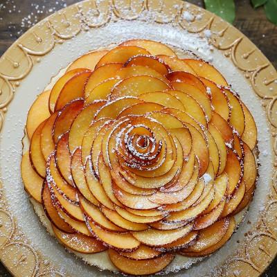Creamy Peach and Honey Tart
